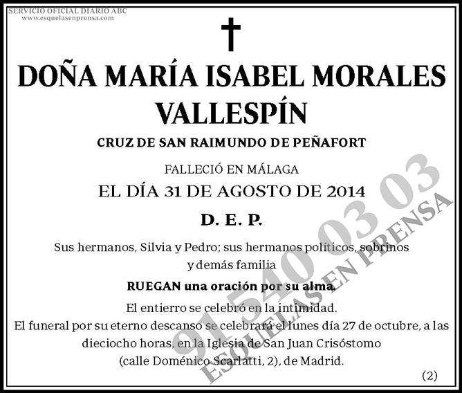 María Isabel Morales Vallespín
